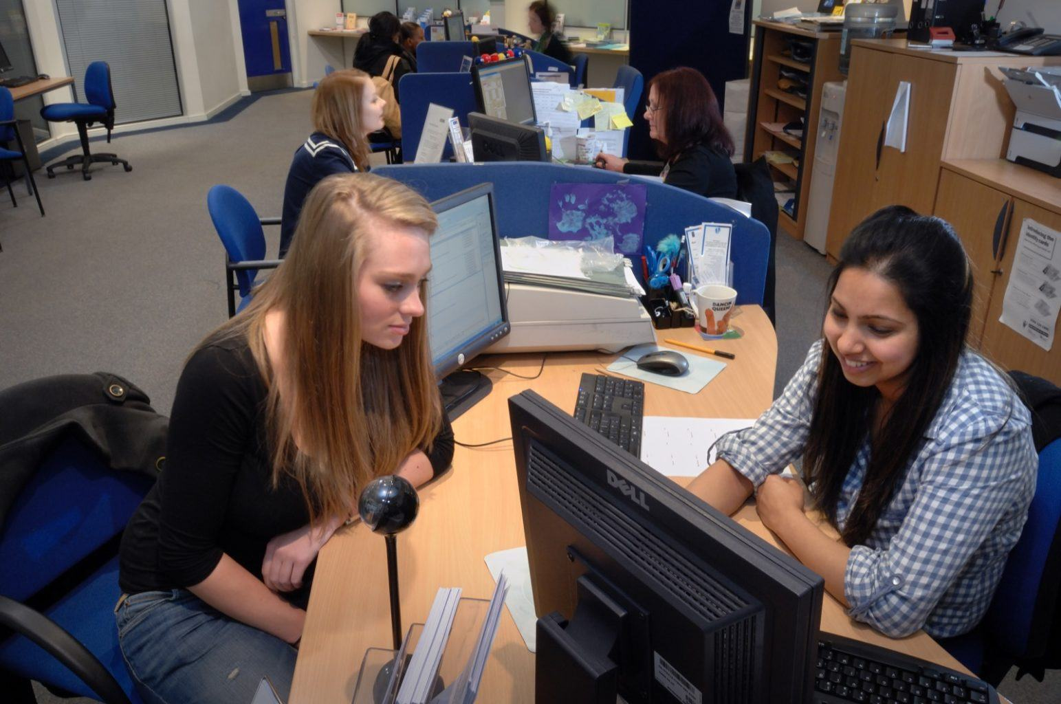 Student Centre Helpdesk with Students 2
